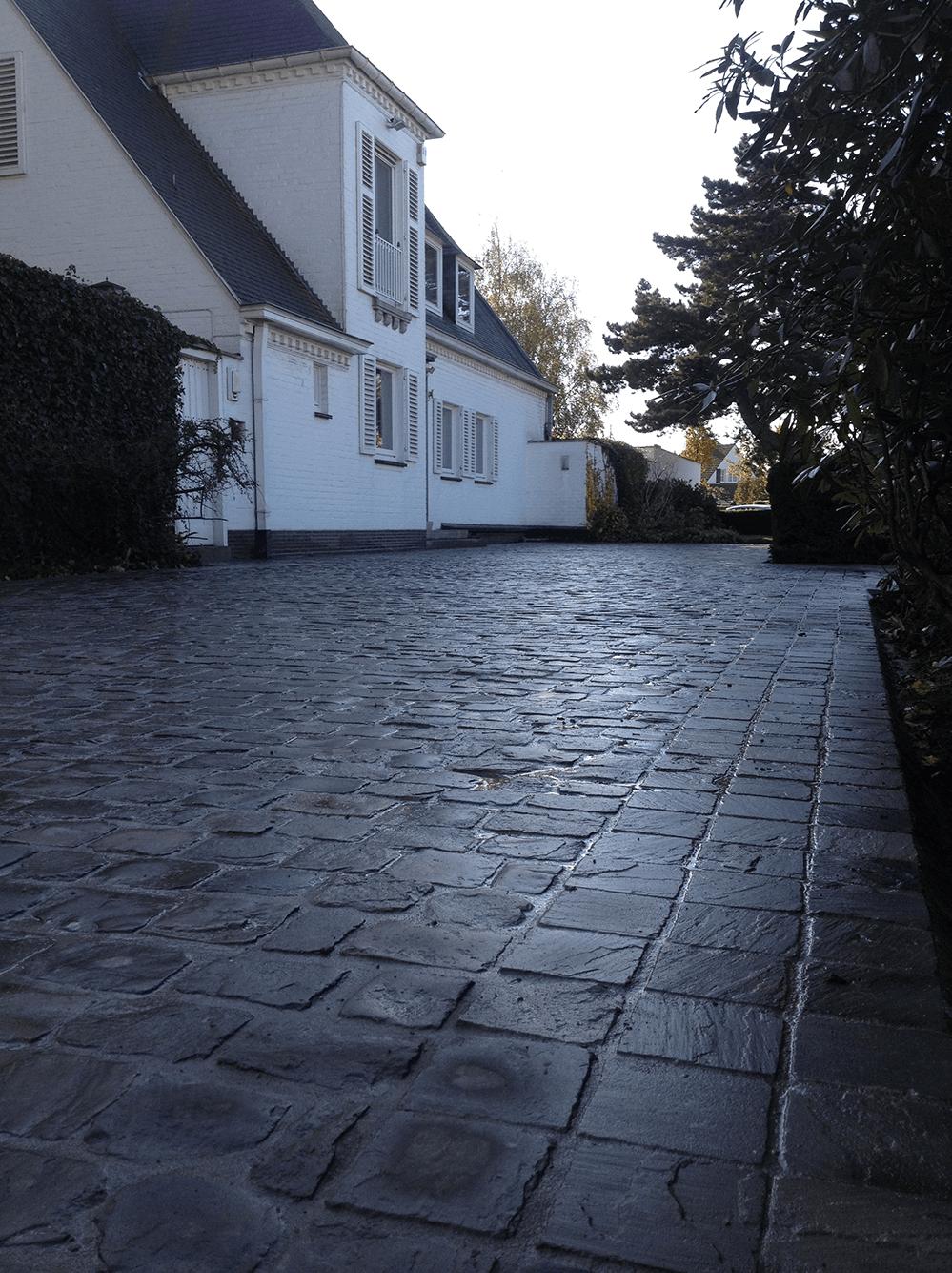 Casteele Tuinen - verharding, terras, wandelpad, pad, tegels, oprit, kasseien, klinkers - Kasteelstraat Deerlijk 2